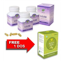 Jamu IBOE Laxano Herbal Supplement 3 botol @30 kapsul
