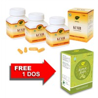 Jamu IBOE Kunir Herbal Supplement 3 botol @30 kapsul