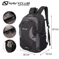 Navy Club New Arrival - Tas Ransel Laptop Kasual HFFB Backpack Up to 14 inch - 23 Liter - Bonus Bag Cover