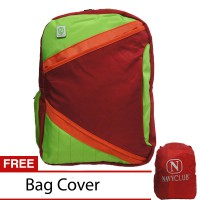 Navy Club Tas Ransel Laptop Kasual 3270 Tas Pria Tas Wanita - Tas Laptop Backpack Up to 15 inch Bonus Bag Cover