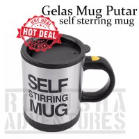 SELF STIRRING MUG / GELAS AJAIB PUTAR PORTABLE