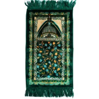 Sajadah Hijau Karpet Anak-Anak Ukuran 35 X 63 Cm - Prayer Rugs For Kids