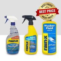 Paket25 Rain-X Glass Cleaner, Glass Water Repellent, Washer Fluid Adtv
