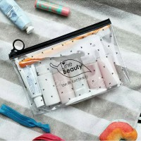 Cosmetic case pouch make up clear transparan pvc