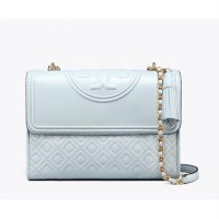 Tory Burch Small Fleming Convertible - Seltzer (DB343 Biru Muda)