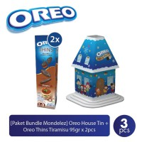 Oreo House Tin - Free Oreo Thins Tiramisu 95gr 2 Pcs