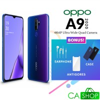 Oppo A9 2020 48MP Ultra Wide Quad Camera - 8GB 128GB (8/128) - Purple - Baru NEW - Resmi