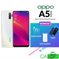 Oppo A5 2020 Ultra Wide Quad Camera - 4GB 128GB (4/128) - White - Baru NEW - Resmi