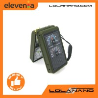 Multifunction 10 in 1 Portable Compass - Army Green