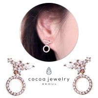 Cocoa Jewelry Anting Caroline Rose Gold Color - Silver Pin