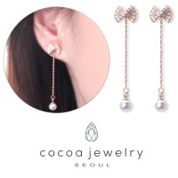 Cocoa Jewelry Anting Rapony Rose Gold Color