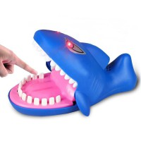 Electronic Pets Shark Bite Finger Big Mouth Shark with Evil Laughter and Glowing Eyes