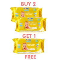 Pure Baby hand & Mount baby Wipes 60 's combo - buy 2 get 1