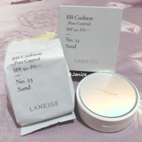 Laneige BB Cushion Pore Control SPF 50+ PA+++ No. 23 SAND FULL SET + Refill