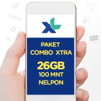 Paket COMBO XTRA 26GB, 30hr, Rp129rb