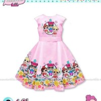Dress Anak LOL Surprise Sateen Pink