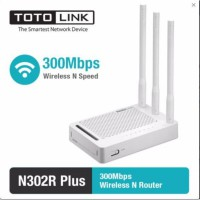 ( PICK UP AIA Central) Router Wireless N 300Mbps 4 LAN Port - TOTOLINK N302R Plus