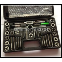 harga [globalbuy] Free shipping Tap & Die Set Wrench METRIC Screw Thread Taper Drill Tool KIT 40/1228126 elevenia.co.id