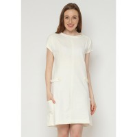 Mobile Power Ladies Ivory Rose Lacey Dress  - White AG40020