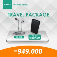 HEMAT IDR 500.000 - Aukey Travel Package Special Bundle Limited Edition Rp. 949.000