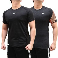 [COMPRESSION WEAR] BAJU KAOS TRAINING BODY FIT MANSET GRADE ORI GYM LARI SPORTS