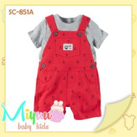 Baju Bayi Lucu ~ Overall Baby ~ Carters Baby Boy Red (SC-851A)