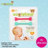 Oogiebear Clean Your Baby's Nose And Ears - Seafoam 2Pk