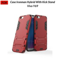 Case Vivo Y69 Ironman Hybrid with Kickstand