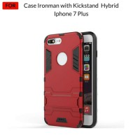 Case Iphone 7 Plus Ironman Hybrid Series With Kick Stand