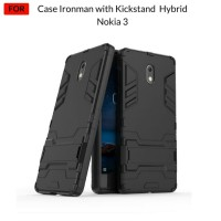 Case Nokia 3 Ironman Hybrid With Kick Stand