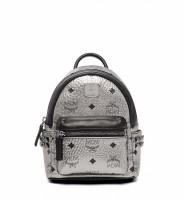 MCM Stark Bebe Boo Backpack X-Mini Silver - (DB353 Silver)