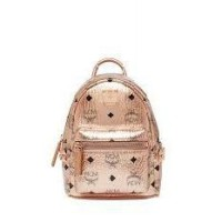 MCM Stark Bebe Boo Backpack X-Mini Champagne Gold - (DB353 Champagne Gold)