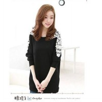 [DJ] Korean version of sweet lace long-sleeved T-shirt