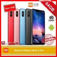 Xiaomi Redmi Note 6 Pro 64Gb - Ram 4Gb - BNIB - versi GLOBAL - Garansi