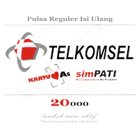 TELKOMSEL Pulsa 20000 20ribu 20k Reguler AS SimPATI TOP UP Isi Ulang Tambah Masa Aktif