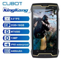 [Ready Stock]Cubot KingKong 4400mAh IP68 Waterproof MT6580 Quad Core 2G RAM ROM 16G