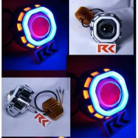 LAMPU LED PROJECTOR U8 DOUBLE ANGEL EYE DAN DEVIL EYE