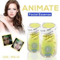 SERUM WAJAH ANIMATE E WHITENING FACIAL OIL ESSENSE USA VITAMIN WAJAH (BOTOL) - KPW-48