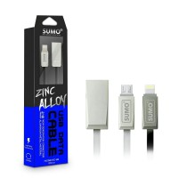 Kabel SUMO Phyton Zinch Alloy 2.4A High Speed|Micro / Type-C / iPhone