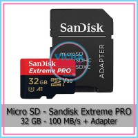 MicroSD - SanDisk Extreme PRO 32 GB Class 10 UHS-1 A1 V30