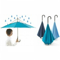 High Quality Double Layer Reverse Inverted Upside Down Umbrella - Payung Terbalik