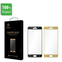 FONEL Samsung S7 Flat Tempered Glass FULL COVER Black n Gold Ready