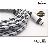 Ikawai MicroUSB Braided Cotton 100cm Fast Data Cable / Charge