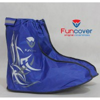 FUNCOVER Cover Shoes Jas Hujan Sepatu Tribal Warna Biru