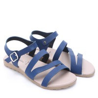 Dr.Kevin Leather Sandals 26106 Blue