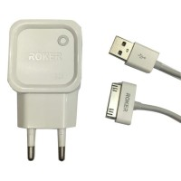 Charger Roker 2.1A + Kabel iPhone 4
