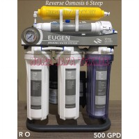 Mesin RO 500 GPD Reverse Osmosis Eugen 500 GPD 6 Step Filtering Stand