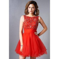 harga [globalbuy] Sexy V Backless Crystal Beaded Red Cocktail Dresses With Bow Vestido Rojo Cort/3855454 elevenia.co.id