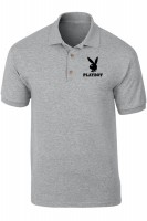 polo shirt playboy - abu-abu