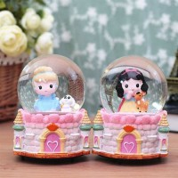 RUMAUMA DISNEY PRINCESS CINDERELLA SNOW BALL | Mainan Anak Bola Salju